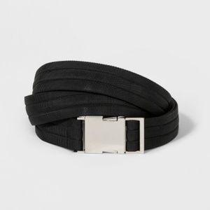 Women's Nylon Webbing Belts With Silver Buckle